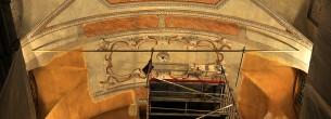 Rekonstrukce stropu kaple v Monaku - pojízdné lešení ALUFIX 6000