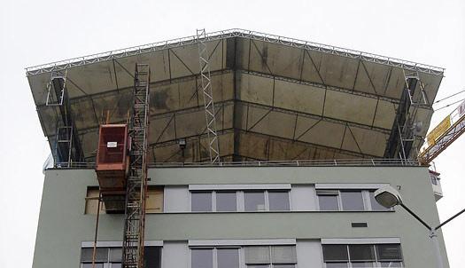 Olšanská - zastřešení stavby WACO