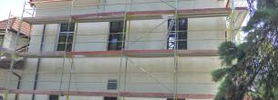 Hotel Selský dvůr - fasádní lešení
