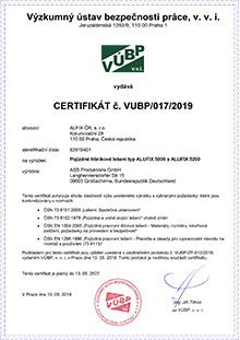 Certifikát pojízdné lešení, hliníkové lešení ALUFIX 5002-5009
