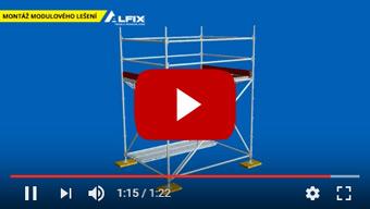 Montáž modulového lešení