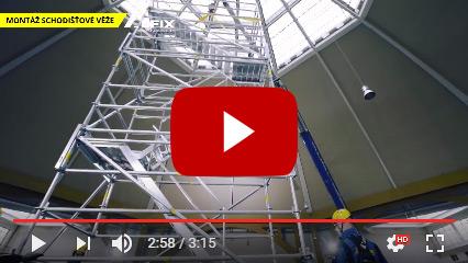 ALFIX schodišťové věže ze systému modulového lešení