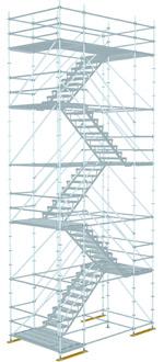 Schodišťová věž - 10 vodorovných podélníků