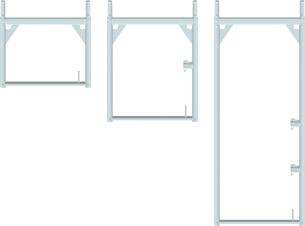 Stavěcí ocelový rám - fasádní lešení