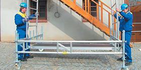 Nasazení vertikálního rámu - pojízdné lešení
