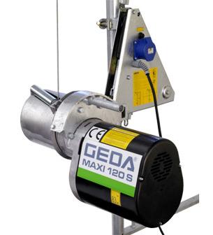Stavební vrátky GEDA maxi 120 S - lanový naviják
