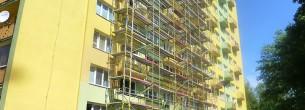 Ulice Vietnamská, Ostrava - fasádní lešení