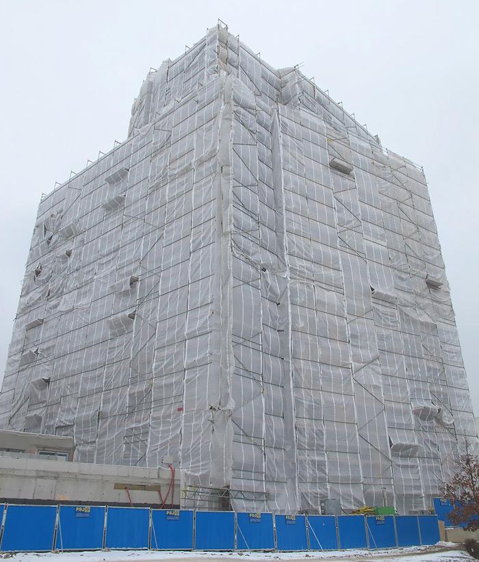 Zateplovací ochranná plachta - Praha Stodůlky